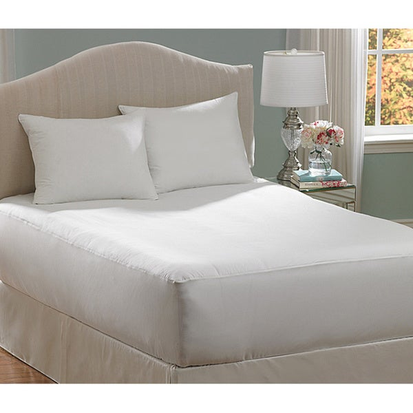 shop allerease hot water washable full size mattress pad free shipping on orders over 45. Black Bedroom Furniture Sets. Home Design Ideas