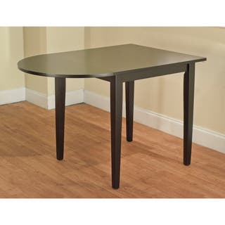 simple living country cottage black drop leaf dining table - Square Wood Dining Table
