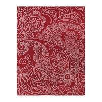 Handmade Sabrina Red New Zealand Wool Rug (8' x 10')