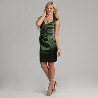 London Times Women's Side Ruche Sheath Dress FINAL SALE