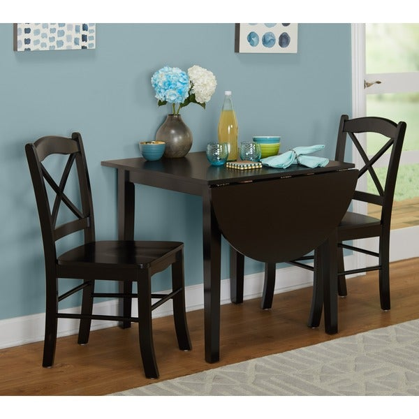 Simple Living Black 3 Piece Country Cottage Dining Set