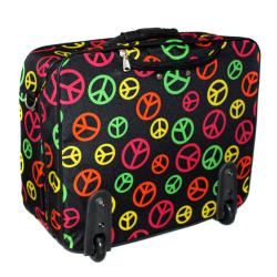 World Traveler Peace Fashion Print Rolling 17-inch Laptop Case