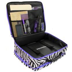 Shop World Traveler Purple Trim Zebra Fashion Print Women