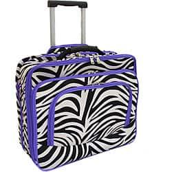 World Traveler Purple Trim Zebra Fashion Print Women's Rolling 17-inch Laptop Case|https://ak1.ostkcdn.com/images/products/6669004/World-Traveler-Purple-Trim-Zebra-Fashion-Print-Womens-Rolling-17-inch-Laptop-Case-P14227124.jpg?impolicy=medium