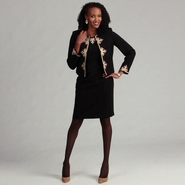 Kasper Women's 2-piece Embroidered Jacket Dress