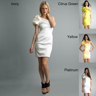 Issue New York Women's One-shoulder Ruffle Dress