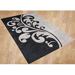 Alliyah Handmade Flint Grey New Zealand Blend Wool Rug (8' x 10') - Thumbnail 1