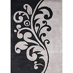 Alliyah Handmade Flint Grey New Zealand Blend Wool Rug (8' x 10') - Thumbnail 0