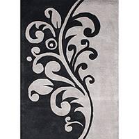 Alliyah Handmade Flint Grey New Zealand Blend Wool Rug (8' x 10')