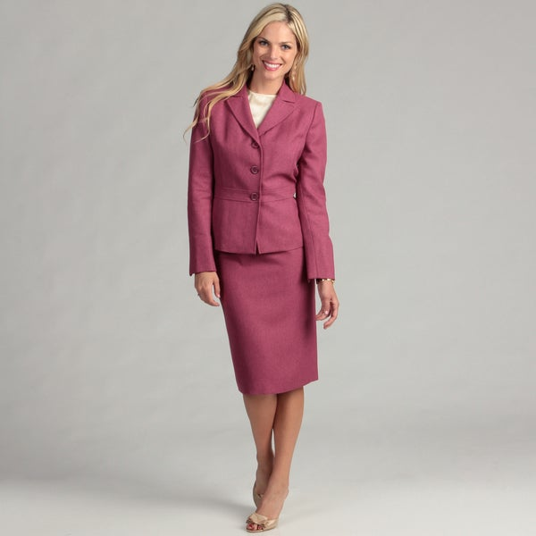 Le Suit Women's Primrose 3-button Skirt Suit