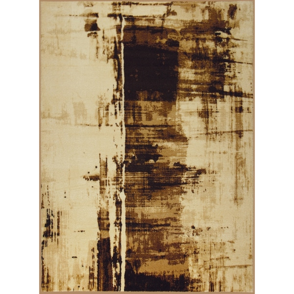 Somette Templation Woven Brown Rug (5' x 7')