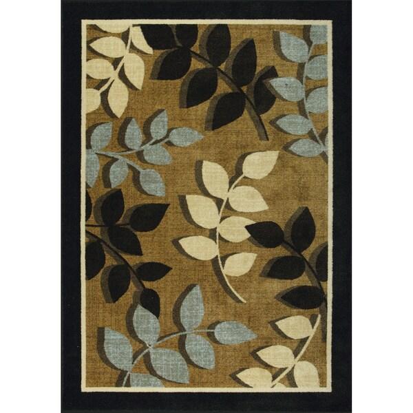 Somette Autumn Elegance Woven Brown Rug (5' x 7')