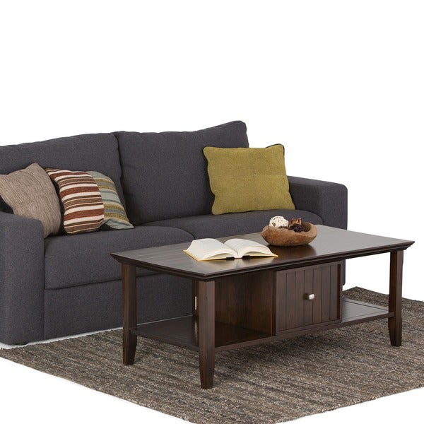WYNDENHALL Normandy Tobacco Brown Coffee Table