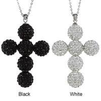La Preciosa Sterling Silver Crystal Cross Pendant