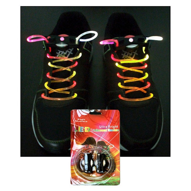 LED Ultra-Cool Illuminated Shoelaces - Thumbnail 0
