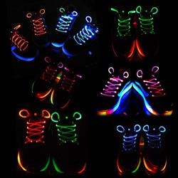 LED Ultra-Cool Illuminated Shoelaces - Thumbnail 1