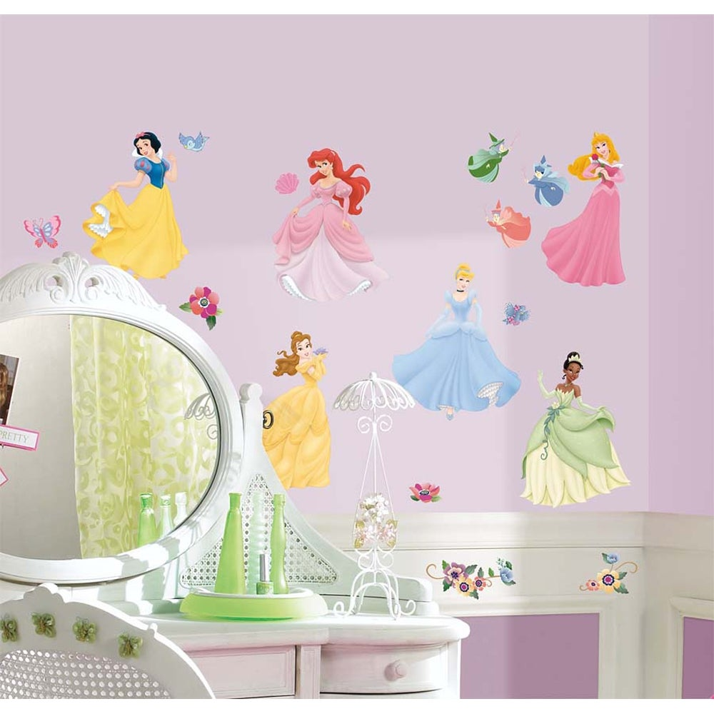 Disney's Princess Peel and Stick Wall Decals with Gems