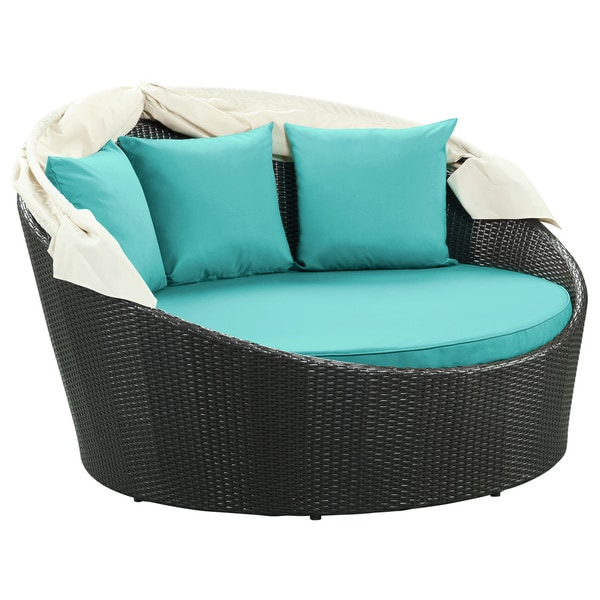 Outdoor Canopy Bed siesta outdoor rattan canopy bed - free shipping today - overstock