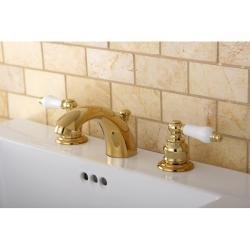 Mini-widespread Polished Brass Bathroom Faucet