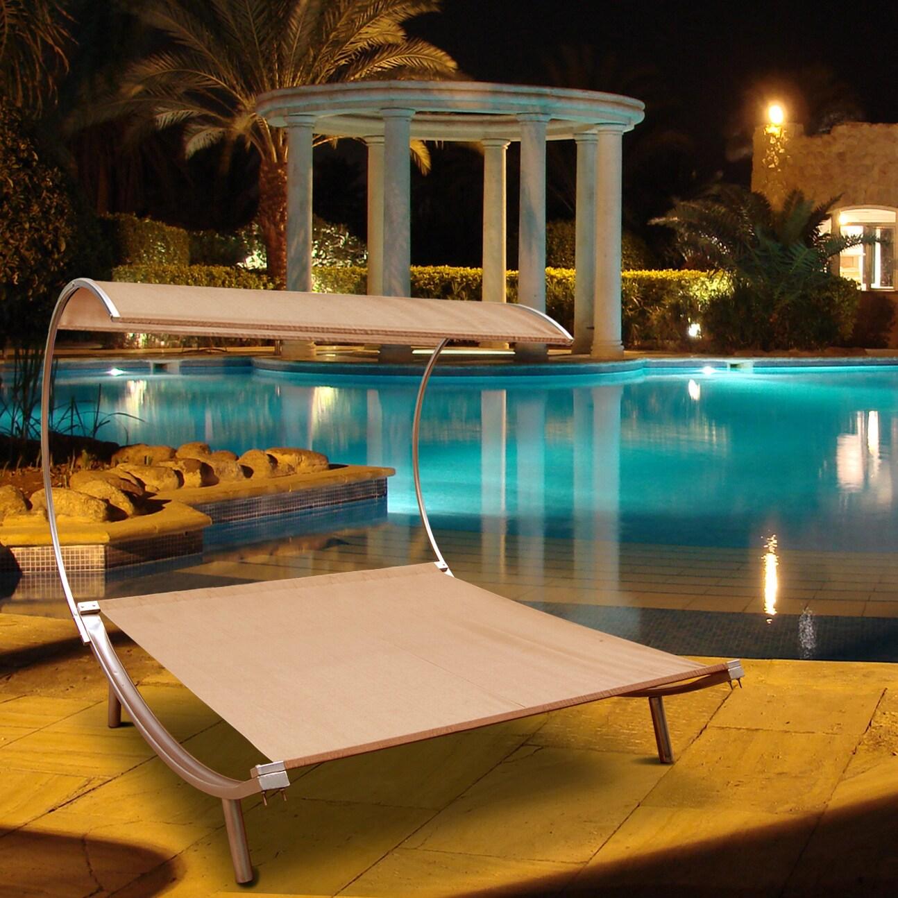 Outdoor hammock bed - Outdoor Steel Double Hammock Bed