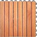 Interlocking 8-slat Design Eucalyptus Deck Tile
