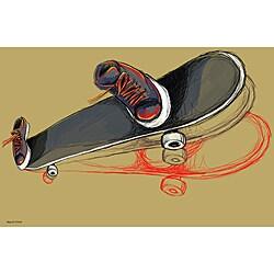 Maxwell Dickson 'Skater' Skateboard Canvas Art Print