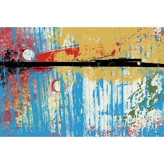 Maxwell Dickson 'Spring In The Air' Abstract Canvas Print