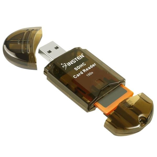 INSTEN Smoke SDHC/ SD/ MMC Memory Card Reader to USB 2.0 Adapter