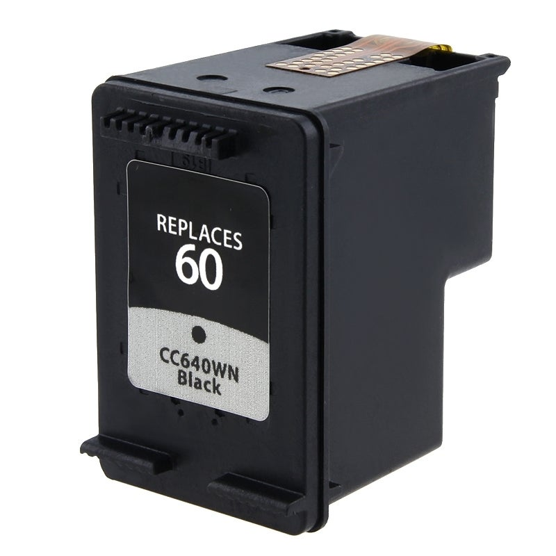 INSTEN HP 60/ CC640WN Black Ink Cartridge for Inkjet Printers (Remanufactured)