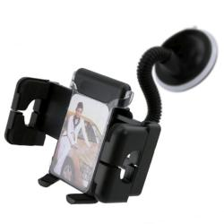 INSTEN Black Universal Swivel Windshield Phone Holder for Apple iPhone 7 Plus/ 7S/ SE/ 5S, Samsung Galaxy 5, LG G5