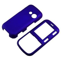 INSTEN Dark Blue Snap-On Easy-to-Grip Rubber-Coated Phone Case Cover for LG Cosmos VN250