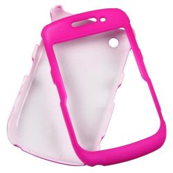 BasAcc Hot Pink Rubber Coated Case for BlackBerry Curve 8520/ 8530 - Thumbnail 1