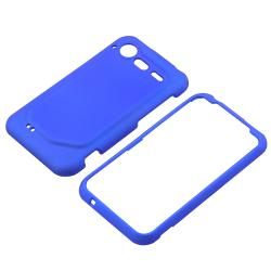 INSTEN Dark Blue Rubber Coated Phone Case Cover for HTC Droid Incredible S - Thumbnail 1