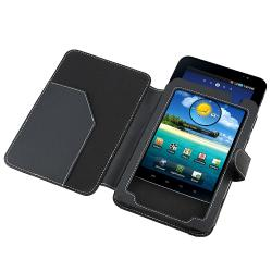 BasAcc Black Leather case for Samsung Galaxy Tab P1000 - Thumbnail 1