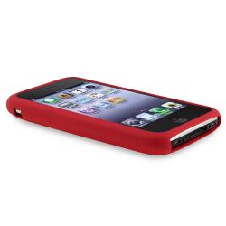 BasAcc Red Textured Silicone Skin Case for Apple iPhone 3G/ 3GS - Thumbnail 2