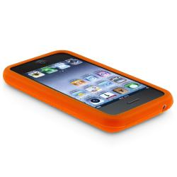 BasAcc Orange Textured Silicone Skin Case for Apple iPhone 3G/ 3GS