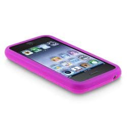 BasAcc Purple Textured Silicone Skin Case for Apple iPhone 3G/ 3GS - Thumbnail 2