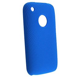 BasAcc Blue Textured Silicone Skin Case for Apple iPhone 3G/ 3GS - Thumbnail 1