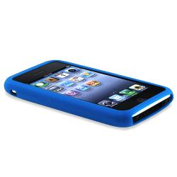 BasAcc Blue Textured Silicone Skin Case for Apple iPhone 3G/ 3GS - Thumbnail 2
