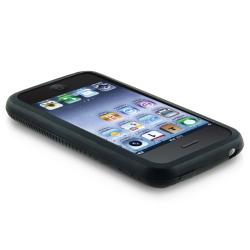 INSTEN Black Textured Soft Silicone Skin Phone Case Cover for Apple iPhone 3G/ 3GS - Thumbnail 2