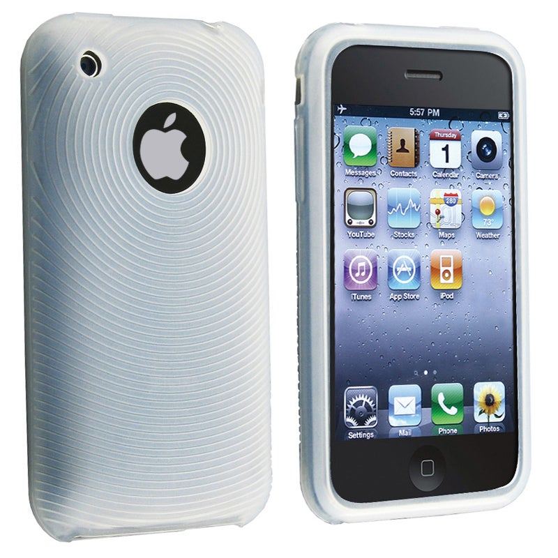 BasAcc Clear White Textured Silicone Case for Apple iPhone 3G/ 3GS