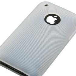 BasAcc Clear White Textured Silicone Case for Apple iPhone 3G/ 3GS - Thumbnail 2