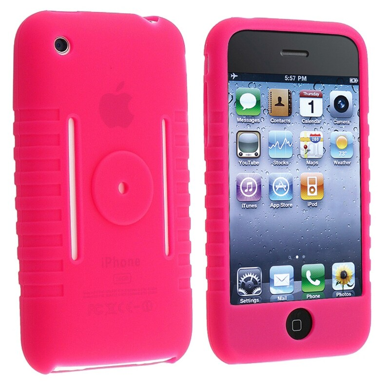 BasAcc Hot Pink Silicone Skin Case for Apple iPhone 3G/ 3GS