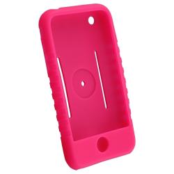 BasAcc Hot Pink Silicone Skin Case for Apple iPhone 3G/ 3GS - Thumbnail 1