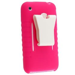 BasAcc Hot Pink Silicone Skin Case for Apple iPhone 3G/ 3GS - Thumbnail 2