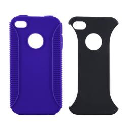 BasAcc Blue TPU/ Black Plastic Hybrid Case for Apple iPhone 4 AT&T