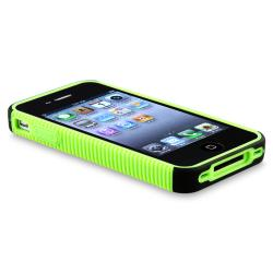 BasAcc Green TPU/ Black Plastic Hybrid Case for Apple iPhone 4/ 4S - Thumbnail 2