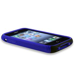 BasAcc Blue TPU/ Black Plastic Hybrid Case for Apple iPhone 3G/ 3GS