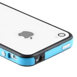 BasAcc Blue TPU Bumper Case/ Aluminum Buttons for Apple iPhone 4/ 4S - Thumbnail 2