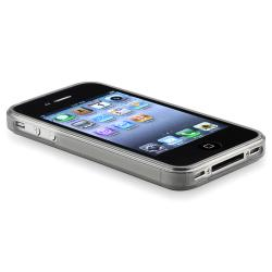 BasAcc Clear Frost Smoke TPU Rubber Case for Apple iPhone 4/ 4S - Thumbnail 2